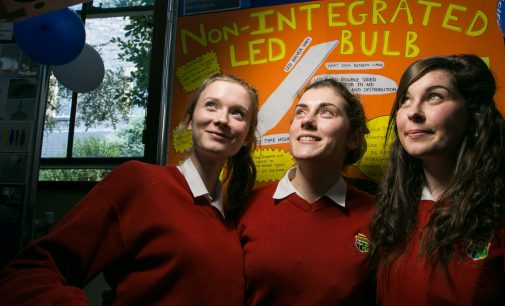 Irish students come first in the world for their award winning LED lightbulb!