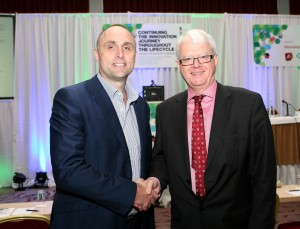 At the PharmaChemical Ireland Conference at the Radisson Blu Hotel, Cork were L to R., Colin Murphy MD, Industry and Business Magazine and Matt Moran, Director, PharmaChemical Ireland. Picture, Tony O'Connell Photography.