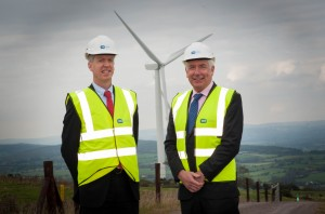 Pictured officially opening ESB's €33m Woodhouse Wind Farm in Co.Waterford today  is Paddy Hayes ESB Executive Director Generation and Wholesale Markets and  Minister for Energy Alex White T.D.