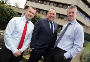 Saving €75,000 with Pure Telecom - pictured (l-r) are Emmet Nealon, deputy head of IT, Blackrock Clinic; Paul Connell, director, Pure Telecom; and John Hayes, head of IT, Blackrock Clinic
