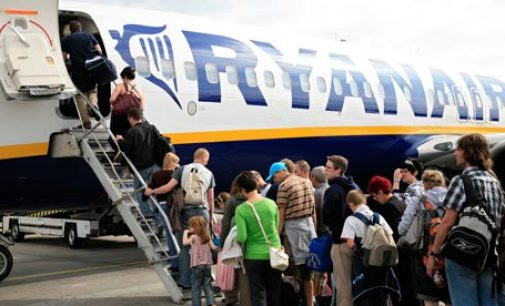 Ryanair reported almost 100 million passengers flew in 12 months