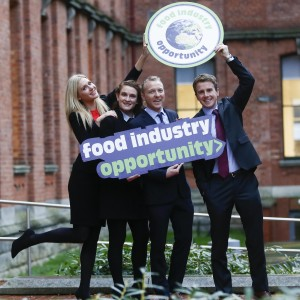 Bord Bia Marketing Fellows (l-r) Clodagh Slattery, Caroline Mullen, Tim Allen and Enda Gallen launched a search for 20 ambitious professionals to apply for the Bord Bia Marketing Fellowship programme in association with the UCD Michael Smurfit Graduate Business School / Bord BIA UCD Smurfit Picture Conor McCabe Photography